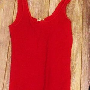RARE- HOLLISTER- Crimson Red So Cal Stretch Tank Top- XS- narrow strap style